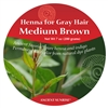 Sample Henna for Gray Hair Medium Brunette Kit