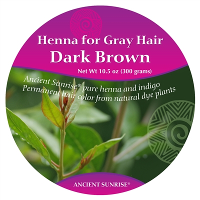 Sample Ancient Sunrise Henna for Gray hair Dark Brunette Kit